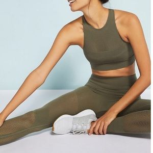 FREE PEOPLE Sculpt High Rise Mesh LEGGING Movement